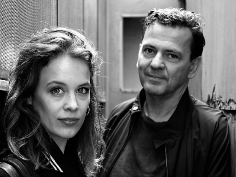 Paula Beer. Christian Petzold. On the rooftop of the cinema.